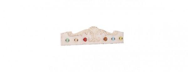 14MG037C3H - Classic Wooden Plaque with Colourful Hooks