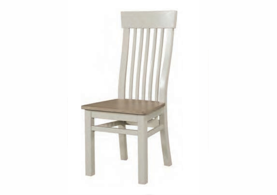 Treviso Painted Chair Solid Oak Painted Smoky Oak Seatpad