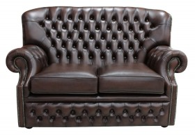 Monks Thomas Chesterfield 2 Seater Antique Oxblood Leather