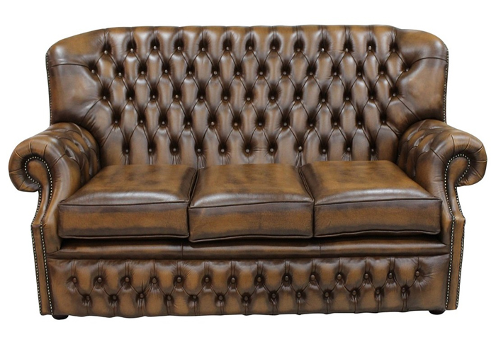 Awe Inspiring Monks Chesterfield 3 Seater Antique Tan Leather Sofa Race Dailytribune Chair Design For Home Dailytribuneorg