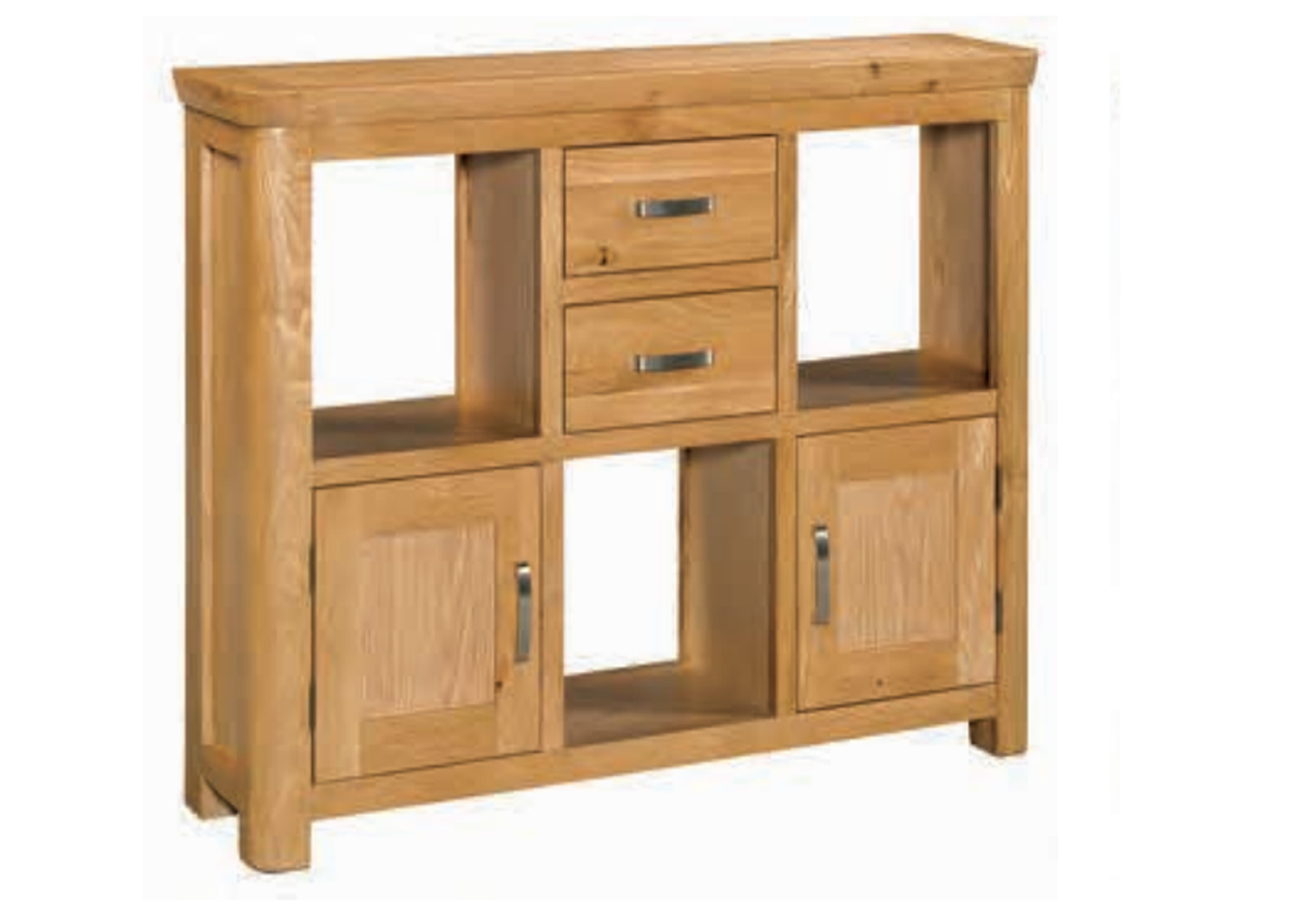 Treviso Oak Low Display Unit Race Furniture Middlesbrough